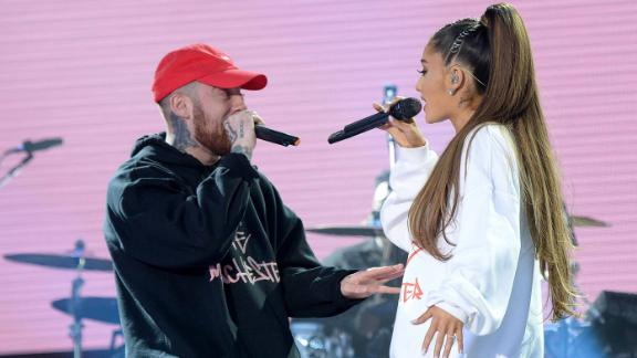 """Rapper Mac Miller and singer Ariana Grande dated for almost two years. In May Grande posted a story on Instagram which appeared <a href=""""http://www.tmz.com/2018/05/09/ariana-grande-mac-miller-split-breakup/"""" target=""""_blank"""" target=""""_blank"""">to confirm reports the couple had split. </a>"""