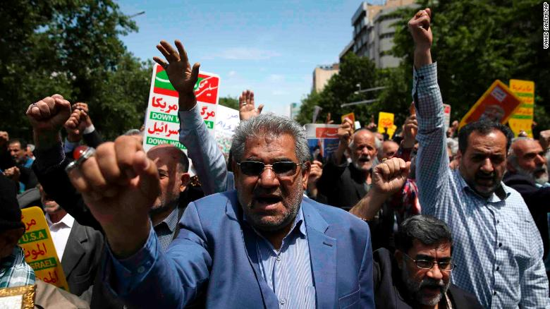Protests erupt in Iran over nuclear deal