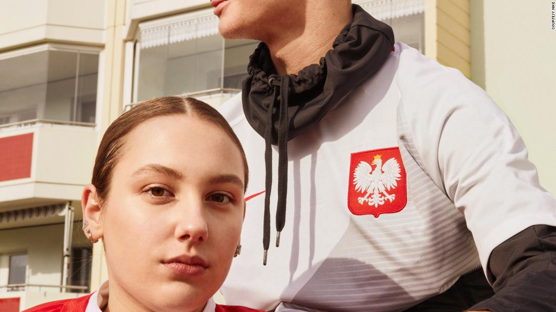 "Poland, who will be competing at the World Cup for the first time in 12 years, will wear a design inspired by the eagle, a national symbol. According to Nike, the diagonal chest pattern -- rendered in white and gray on the home kit, and red and two shades of red on the away kit -- ""represents the pride of the eagle cutting through the competition."""
