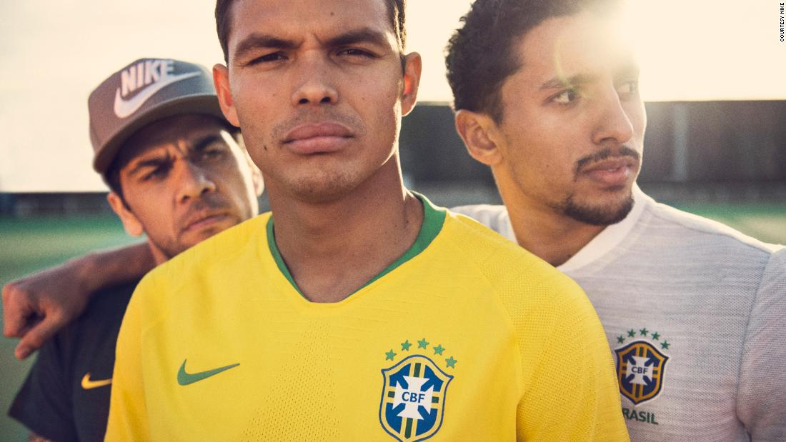 The Nike design team went to the Sao Paulo's football museum to inspect the revered jersey worn by the 1970 World Cup-winning team, just to make sure they got the shade of yellow exactly right in their new jersey.