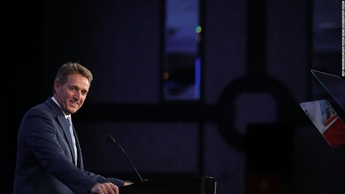 GOP Sen. Jeff Flake says he'll vote 'no' on Trump's pick to lead the CIA