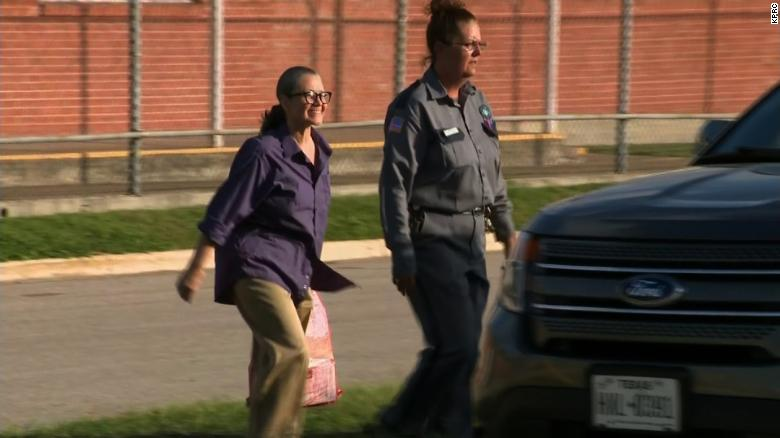 Woman who ran over spouse released from prison