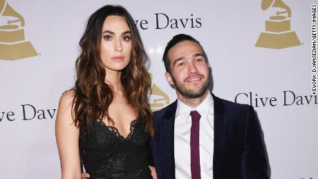 LOS ANGELES, CA - FEBRUARY 11:  Meagan Camper (L) and musician Pete Wentz of music group Fall Out Boy attend Pre-GRAMMY Gala and Salute to Industry Icons Honoring Debra Lee at  The Beverly Hilton on February 11, 2017 in Los Angeles, California.  (Photo by Kevork Djansezian/Getty Images)