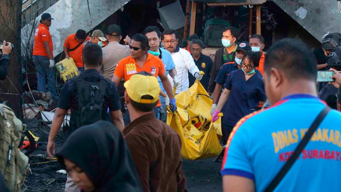 Three families were behind the ISIS-inspired bombings in Indonesia's Surabaya, police said