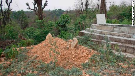 The unmarked grave of the eight-year-old Muslim girl in Kathua district of India's Jammu and Kashmir state.