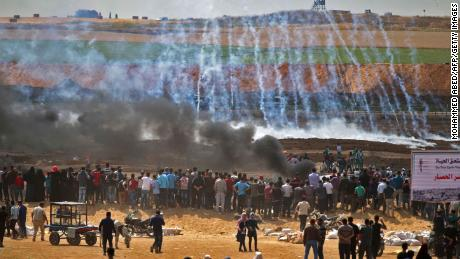 White House blames Hamas for dozens of deaths in Gaza protests