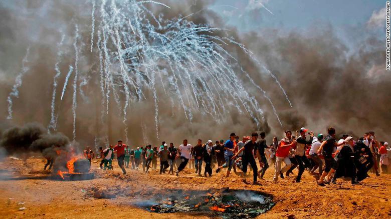 Image result for US visits Jerusalem, Palestinians die in Gaza images