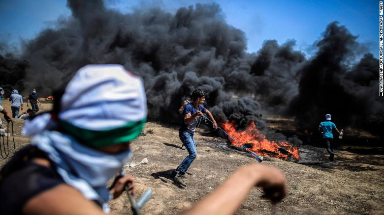 What sparked the latest Palestinian protests?
