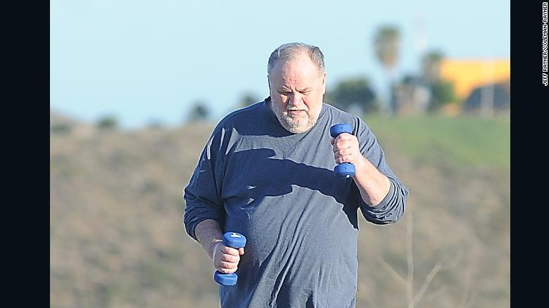 Meghan Markle's father, Thomas Markle Senior, works up a sweat as he gets into healthy shape ahead of the Royal Wedding.