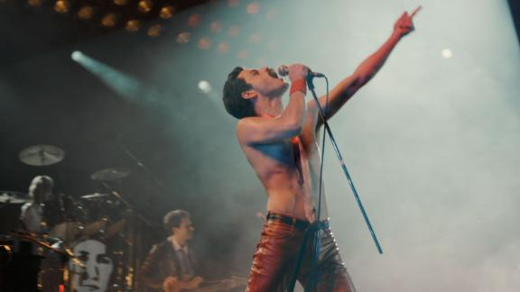 "Rami Malek plays Freddie Mercury in ""Bohemian Rhapsody."""