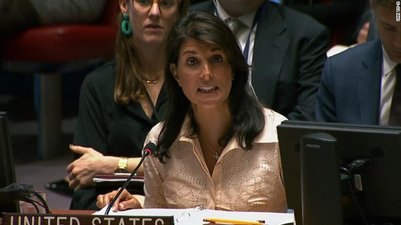 Haley: Gaza violence unrelated to embassy move