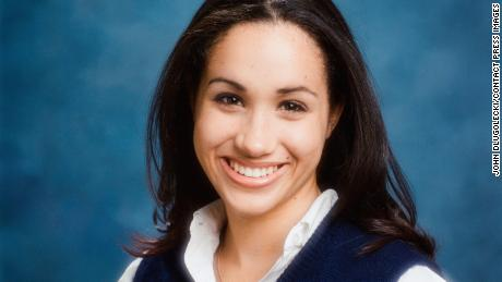 499549790a2 Meghan Markle 1999 Aug ImmaculateHeartMS YBK portrait Grade12 © John  Dlugolecki Contact Press Images