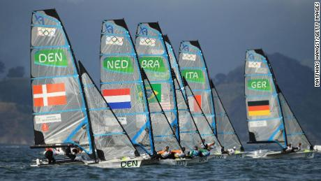 The Women's 49er FX class will be retained for the 2024 Olympics in Paris.