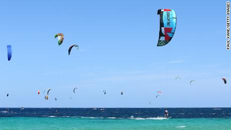 Kitesurfing will make its Olympic debut in 2024 in a mixed team event.