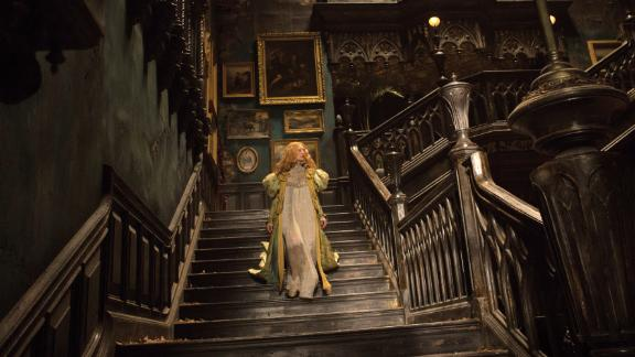 """""""Crimson Peak"""" -- Guillermo Del Toro brought his baroque visual storytelling to this Gothic tale of a young woman's newly-married life. Each frame is rich in detail and texture; the air dusty and throbbing with malice."""