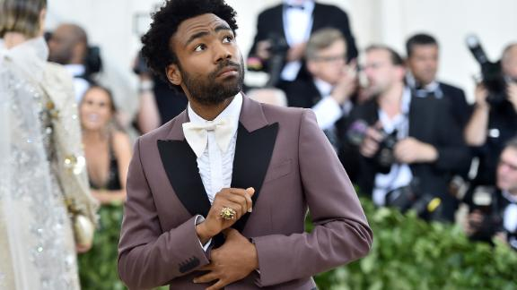 Childish Gambino did not attend the Grammys. Here, he attends the Heavenly Bodies: Fashion & The Catholic Imagination Costume Institute Gala at The Metropolitan Museum of Art on May 7, 2018 in New York City.