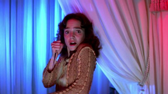 """""""Suspiria"""" -- Not technically a house, the ballet boarding school in Dario Argento's '70s masterpiece is a sensory assault of saturated colors, lit in bright blues and reds. The sets wear Giuseppe Bassan's stagecraft on its sleeve, and owe its debt to grand guignol and the likes of """"The Cabinet of Dr Caligari."""""""