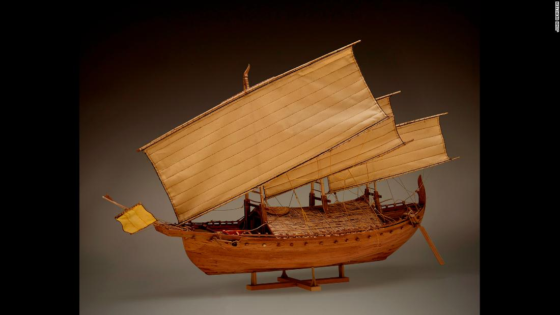 This model, built by Nicholas Burningham, shows what the ship probably looked like.