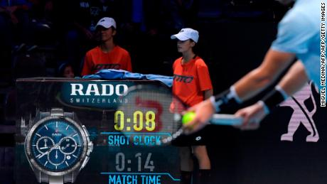 The shot clock was first introduced at ATP Next Gen Finals in 2017.