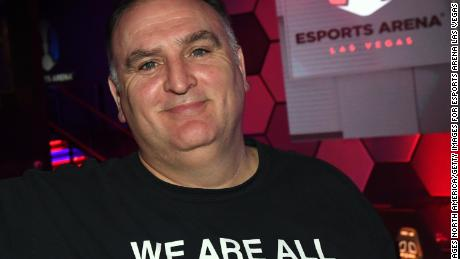 LAS VEGAS, NV - MARCH 22:  Chef Jose Andres attends the grand opening of Esports Arena Las Vegas, the first dedicated esports arena on the Las Vegas Strip at Luxor Hotel and Casino on March 22, 2018 in Las Vegas, Nevada.  (Photo by Ethan Miller/Getty Images for Esports Arena Las Vegas)