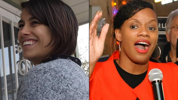 Sara Innamorato, left, and Summer Lee both won state house primary races on Tuesday with the backing of the Democratic Socialists of America.