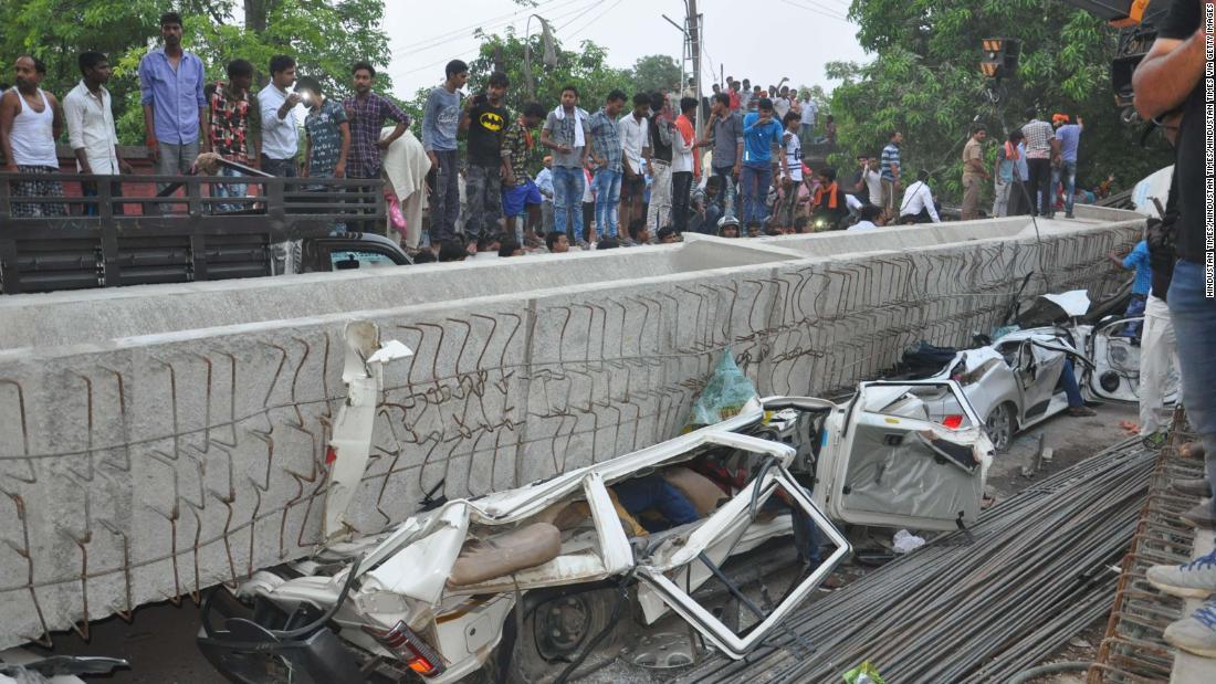 India overpass collapse kills at least 15 in Varanasi