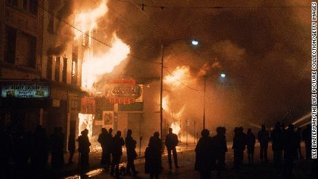Streets ablaze from rioting following assassination of Martin Luther King Jr.  (Photo by Lee Balterman/The LIFE Picture Collection/Getty Images)