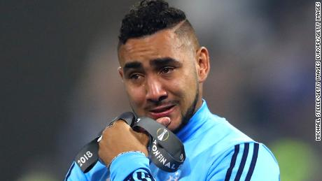 LYON, FRANCE - MAY 16:  Dimitri Payet of Marseille looks dejected following the UEFA Europa League Final between Olympique de Marseille and Club Atletico de Madrid at Stade de Lyon on May 16, 2018 in Lyon, France.  (Photo by Michael Steele/Getty Images)