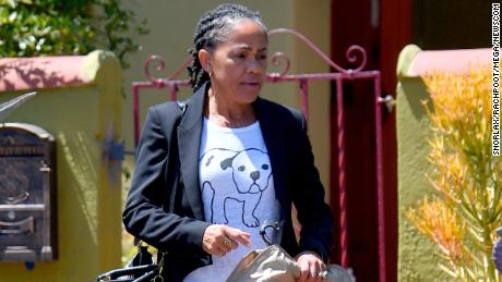 Doria Ragland leaves Los Angeles to travel to the UK for her daughter's wedding.