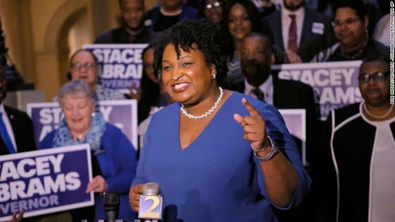 Abrams' bid to be first black female governor