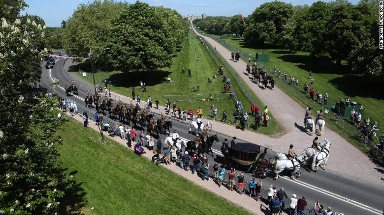 Royal wedding rehearsal british troops practise roles ahead of the carriage turns onto the long walk and heads back towards windsor castle junglespirit Images
