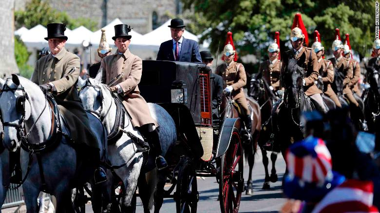 Royal wedding rehearsal british troops practise roles ahead of mounted members of the household cavalry escort the carriage through windsor in the parade rehearsal junglespirit Images