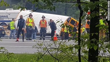 Driver in fatal school bus crash had multiple traffic violations and license suspensions