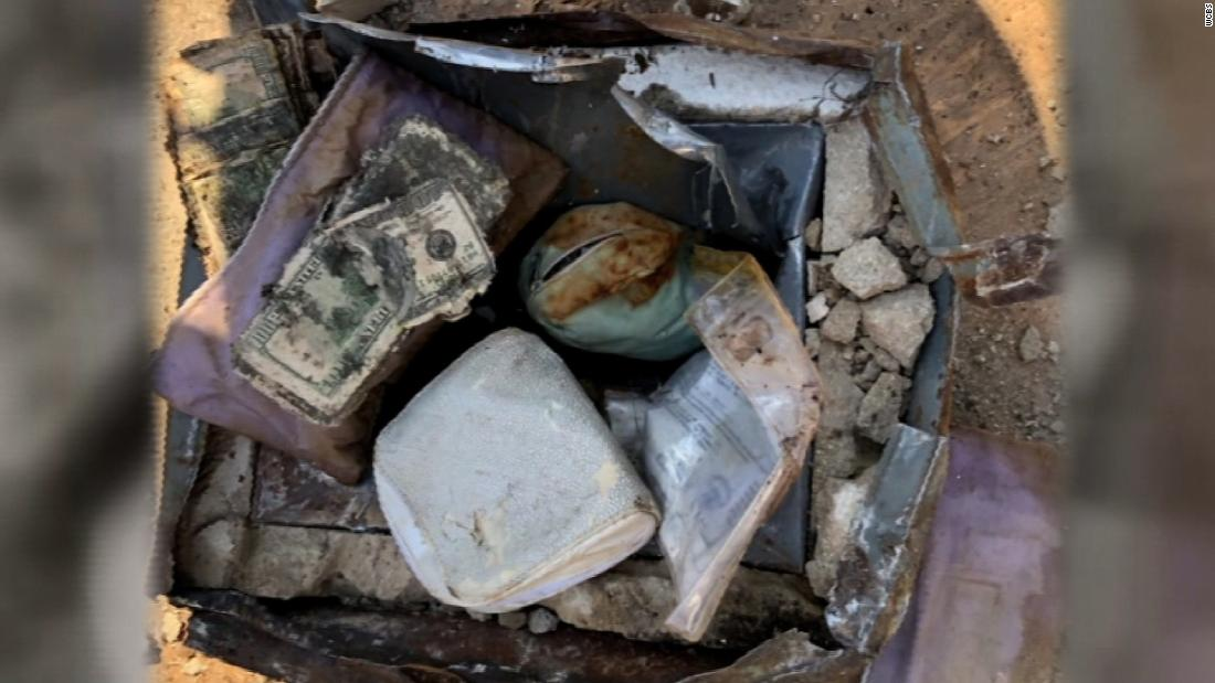 What they thought was a rusty box in their backyard was a safe with $52,000 worth of treasure