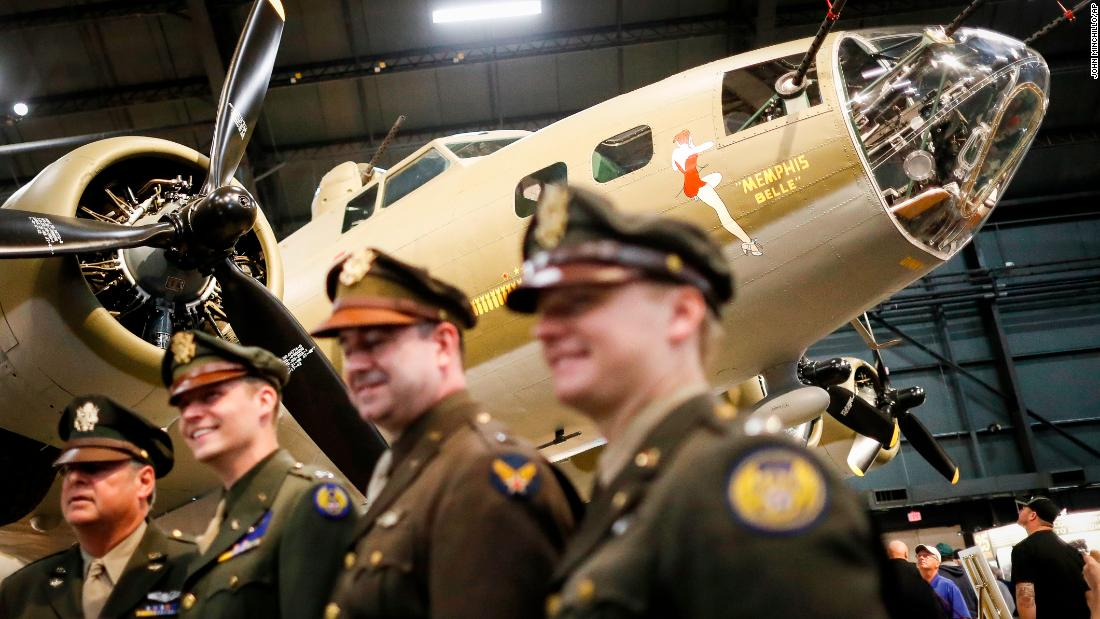 "Seventy-five years after its last bombing run in World War II, the newly restored Memphis Belle <a href=""https://www.cnn.com/2018/05/17/politics/memphis-belle-bomber-unveiling-air-force-museum/index.html"" target=""_blank"">went on display</a> Thursday, May 17, at the Air Force Museum in Riverside, Ohio. The plane was an iconic symbol of US air power in World War II, and it was also known for its rather risque nose art that featured a scantily clad pinup girl."