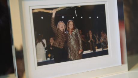 A photograph displayed in Disney's New York City office shows her with 2016 presidential candidate Hillary Clinton.