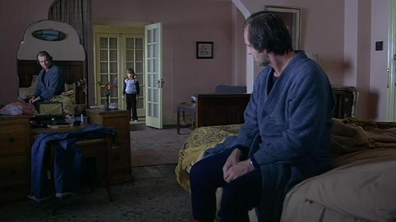 """""""The Shining"""" -- Author Stephen King hated it, but no one can say that Stanley Kubrick's adaptation lacked visual flair. The Overlook Hotel was a network of labyrinthine corridors and a riot of bad-taste patterns that made Jack Torrance a very dull boy over one cold, isolating winter."""