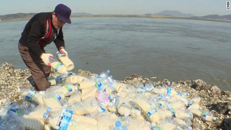 Food, messages sent in bottles to North Korea