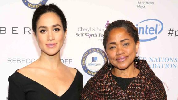 Meghan Markle attends a UN Women's event with her mother in March 2015.