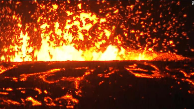 Watch lava spew from the Kilauea volcano