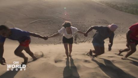 Fiji's spectacular sand dune workout