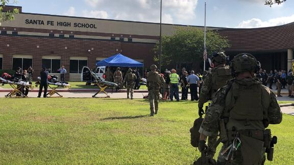 Harris County Sheriff Office tweet:   ìWe are assisting @SantaFeISD with a multiple-casualty incident at Santa Fe High School. This is no longer an active shooting situation and the injured are being treated. #hounewsî   GUIDANCE:  ìmultiple casualty incidentî can mean INJURIES or DEATHSódo not take this tweet as confirmation of fatalities.