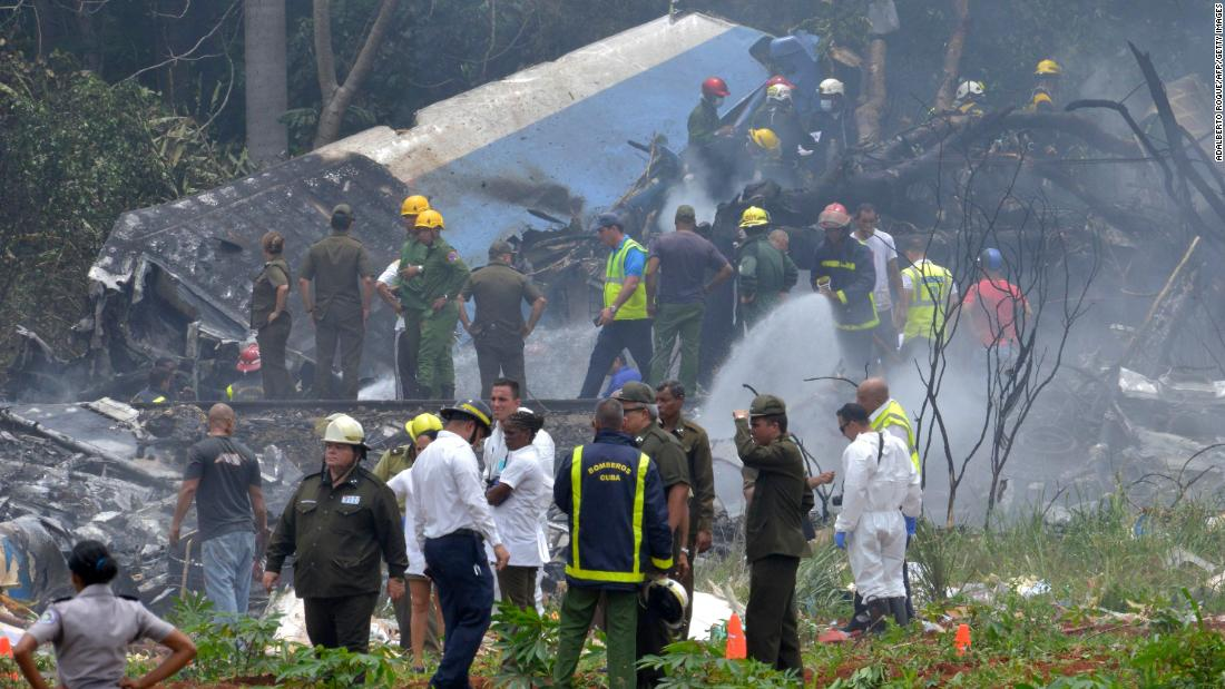 Search and rescue personnel descend on the area where a plane crashed on takeoff from Havana's Jose Marti International Airport on Friday, May 18. More than 100 people are believed to be dead, according to Cuba's state-run media. The plane plunged into thick vegetation just miles from the runway, the state-run newspaper Granma reported.