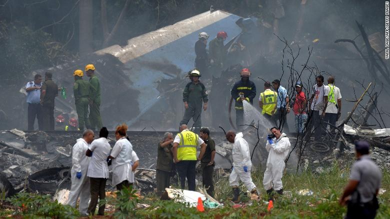 Video appears to show Havana plane crash site