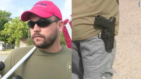 armed Trump supporter outside school shooting sot_00002901.jpg