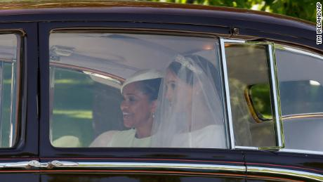 Meghan Markle and her mother Doria Ragland depart for the wedding.