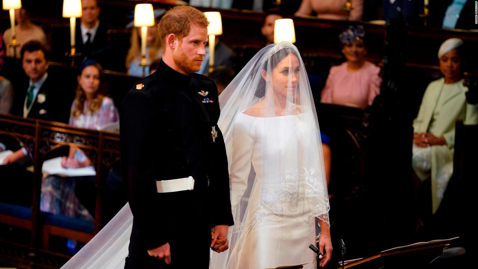Meghan Wears Stella Mccartney Dress To Evening Royal Wedding