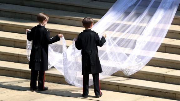 Those working on the dress spent hundreds of hours meticulously sewing. They washed their hands every thirty minutes to keep the tulle and threads pristine, according to a statement from the palace.
