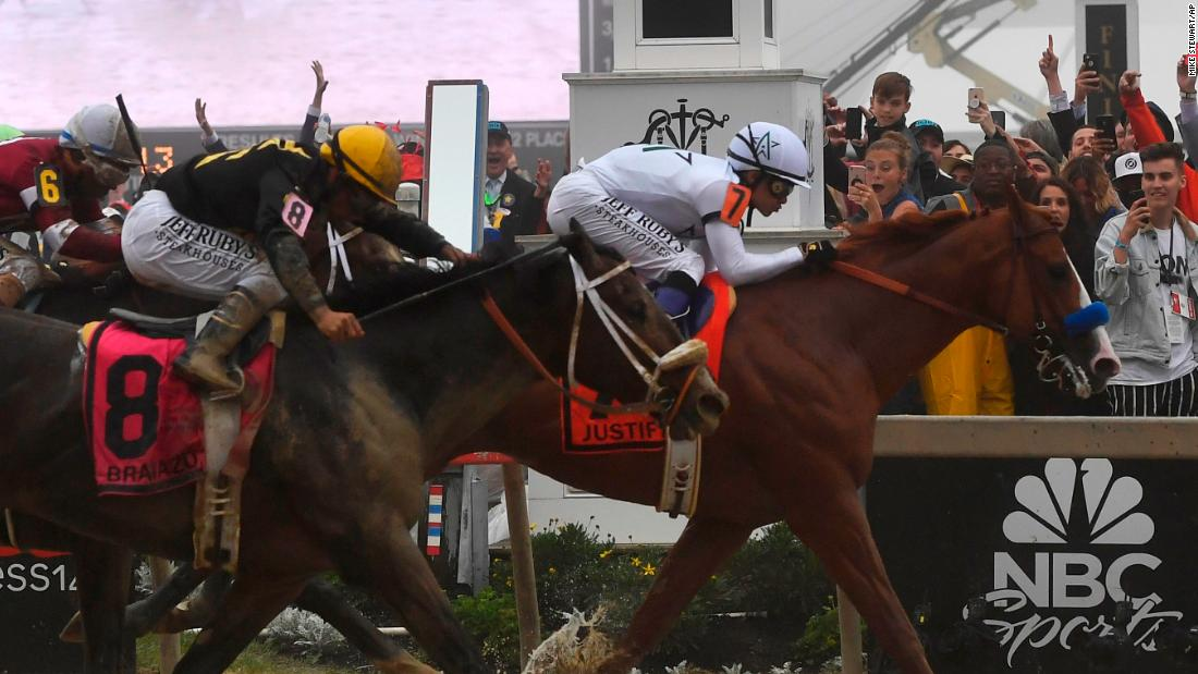 Heavy Favorite Justify Wins Preakness Will Shoot For