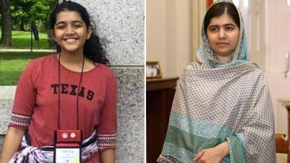Sabika Sheikh and Malala Yusafzai